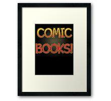 Comic Books T Shirt Framed Print