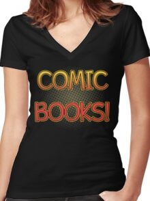 Comic Books T Shirt Women's Fitted V-Neck T-Shirt