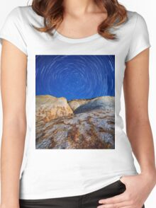 Rocky Mountain Magic Sky Nature Fine Art Photography 0004 Women's Fitted Scoop T-Shirt