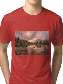 Forest River Nature Fine Art Photography 0005 Tri-blend T-Shirt