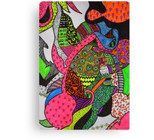 Abstract Fluoro 1 Entire Work Canvas Print