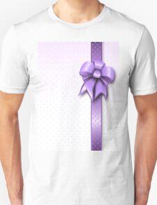 Lilac Present Bow Unisex T-Shirt