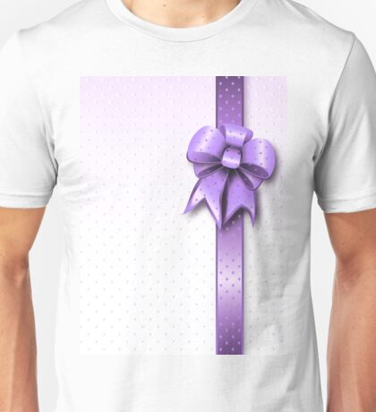 Lilac Present Bow Unisex T-Shirt