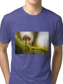 Forest Mushroom Fine Art Photography 0008 Tri-blend T-Shirt