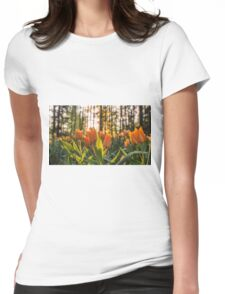 Tulips Garden Spring Fine Art Photography 0009 Womens Fitted T-Shirt