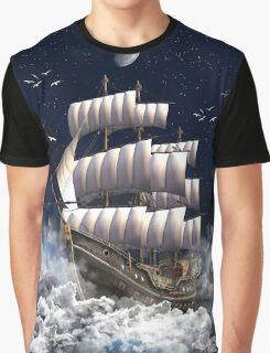 Fantasy Sailingship Graphic T-Shirt