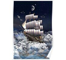 Fantasy Sailingship Poster