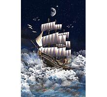 Fantasy Sailingship Photographic Print