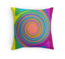 Colorful swirl pattern Throw Pillow