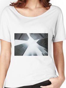 City Skyscrapers Foggy Nature Fine Art Photography 0013 Women's Relaxed Fit T-Shirt