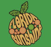 Florida Orange - Sunshine State Emblem Lettering in Shape of Orange Baby Tee