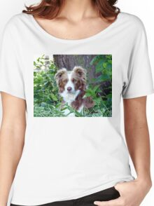 Beauty In Camouflage - Border Collie - NZ Women's Relaxed Fit T-Shirt