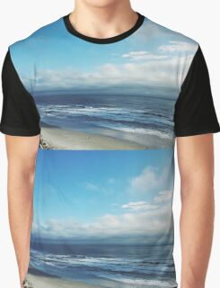 Sunny Beach Cloudy Sky Nature Fine Art Photography 0015 Graphic T-Shirt