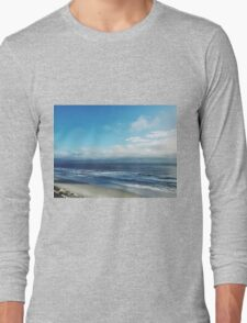Sunny Beach Cloudy Sky Nature Fine Art Photography 0015 Long Sleeve T-Shirt