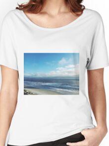 Sunny Beach Cloudy Sky Nature Fine Art Photography 0015 Women's Relaxed Fit T-Shirt