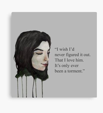 Torment Quote Canvas Print