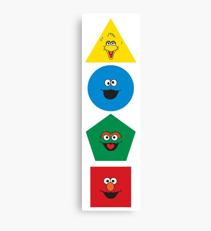 Sesame Street Primary Colors Basic Shapes Canvas Print