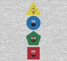 Sesame Street Primary Colors Basic Shapes Kids Tee