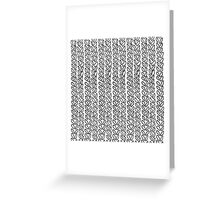 Knit Outline Zoom Greeting Card