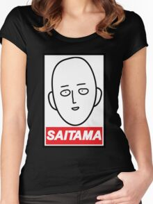 Obey Saitama Women's Fitted Scoop T-Shirt