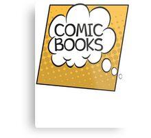 Comic Books Thought Bubble T Shirt Metal Print