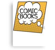Comic Books Thought Bubble T Shirt Canvas Print