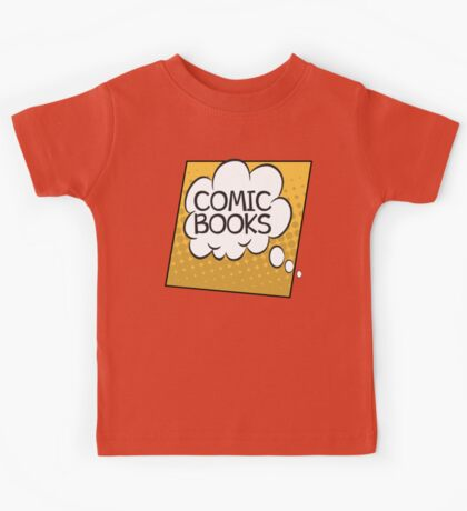 Comic Books Thought Bubble T Shirt Kids Tee
