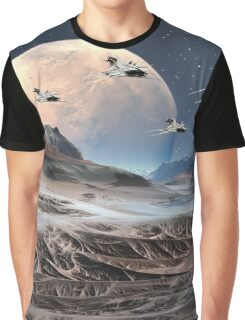 Alien Planet - Fantasy Landscape Graphic T-Shirt