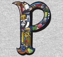 Doodle Letter P One Piece - Long Sleeve