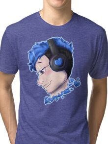 markiplier blue Tri-blend T-Shirt
