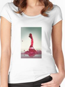 Water Art  Women's Fitted Scoop T-Shirt