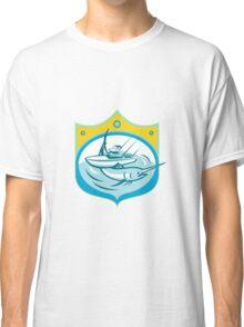 Blue Marlin Charter Fishing Boat Retro Classic T-Shirt