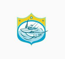 Blue Marlin Charter Fishing Boat Retro Unisex T-Shirt