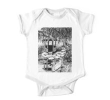 gazebo with swans One Piece - Short Sleeve