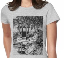 gazebo with swans Womens Fitted T-Shirt