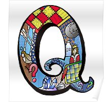 Doodle Letter Q Poster