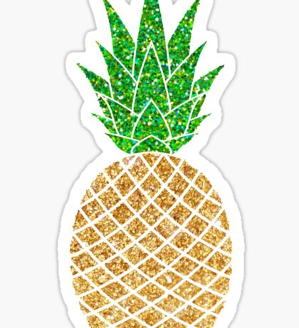 glittery pineapple Sticker
