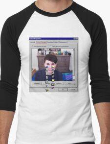 Dan Howell crying Windows 96 Men's Baseball ¾ T-Shirt
