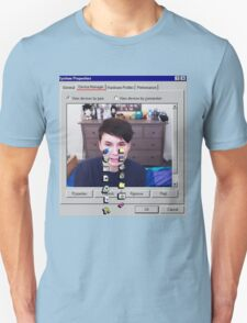 Dan Howell crying Windows 96 Unisex T-Shirt