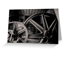 Gold Dredge Gears Greeting Card