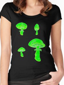 glowing fungus Women's Fitted Scoop T-Shirt
