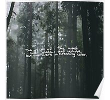 Taylor Swift Out of the Woods Lyric Poster