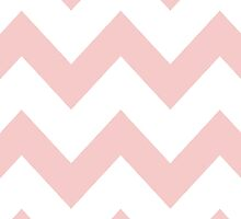 Rose Quartz Chevron Pattern by Caroline Leskiw