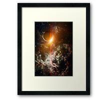 3d Rendered Space Scene Framed Print