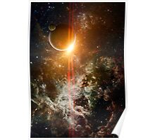 3d Rendered Space Scene Poster