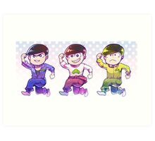 Matsuno bros - Older trio Art Print