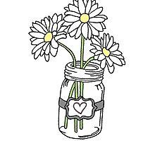 Mason Jar with Sunflowers by sammyjodesigns