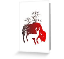 Into the Wild t shirt design Greeting Card