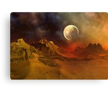 Alien Planet - Fantasy Landscape Canvas Print