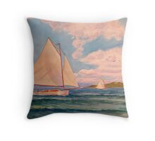 Boats in a Breeze Throw Pillow